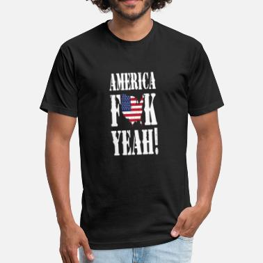American Pride Love American Pride - Fitted Cotton/Poly T-Shirt by Next Level