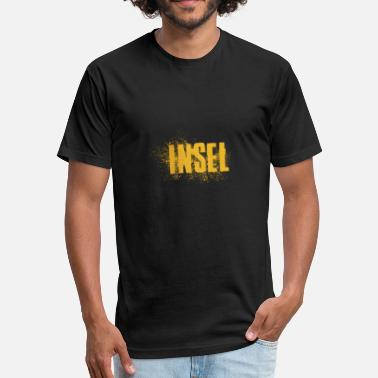 Word Art Insel Word Art - Fitted Cotton/Poly T-Shirt by Next Level