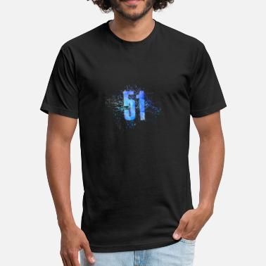 Number 51 Number 51 Art - Fitted Cotton/Poly T-Shirt by Next Level