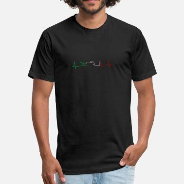 Motorcycle Xmas Motorcycle Heartbeat - Fitted Cotton/Poly T-Shirt by Next Level