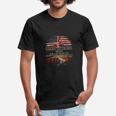 Swazi American grown with swazi roots - Fitted Cotton/Poly T-Shirt by Next Level