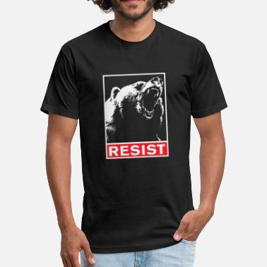Resister Resist - resist - Fitted Cotton/Poly T-Shirt by Next Level