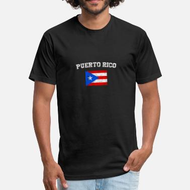 Puerto Rico Kids Puerto Rican Flag Shirt - Vintage Puerto Rico T-Sh - Fitted Cotton/Poly T-Shirt by Next Level