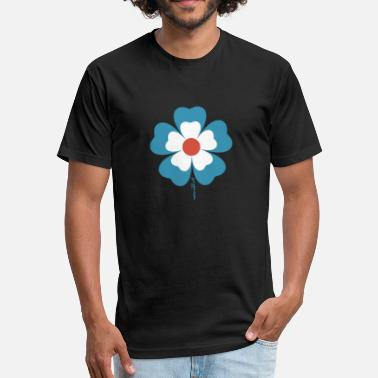 flower time - Fitted Cotton/Poly T-Shirt by Next Level