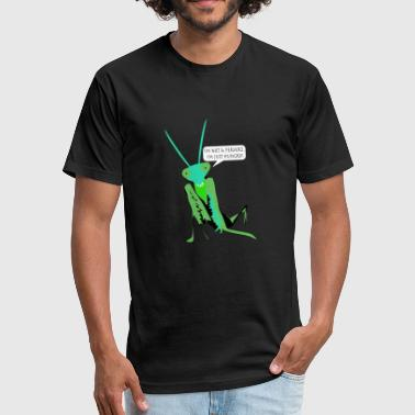 Eat Insects MAN EATING - INSECT - Fitted Cotton/Poly T-Shirt by Next Level