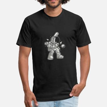 Astronautics Jokes Astronaut Baseball - Fitted Cotton/Poly T-Shirt by Next Level