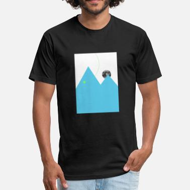 Simplistic Design Simplistic Earth - Fitted Cotton/Poly T-Shirt by Next Level
