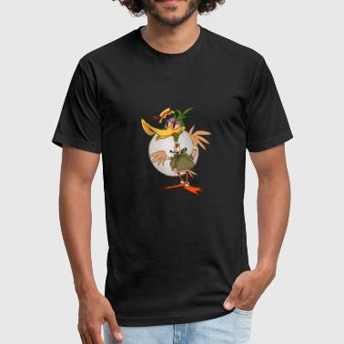 Bayou Bayou Duck - Fitted Cotton/Poly T-Shirt by Next Level