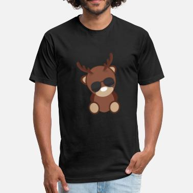 Kids Deer Deer - Fitted Cotton/Poly T-Shirt by Next Level