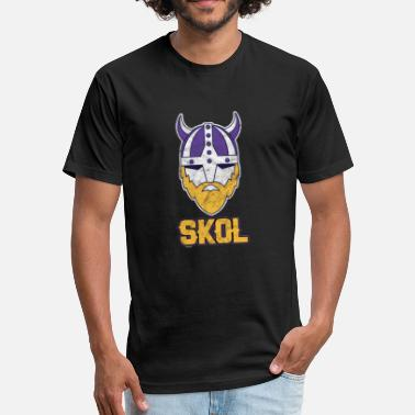 Viking Drink Skol! Cheers! Viking Vikings Beer Drinker Drinking Party Festival - Fitted Cotton/Poly T-Shirt by Next Level