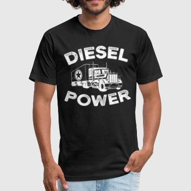 Diesel Power with big Truck - Fitted Cotton/Poly T-Shirt by Next Level