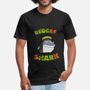 Reggae Shark Reggae Shark - Fitted Cotton/Poly T-Shirt by Next Level