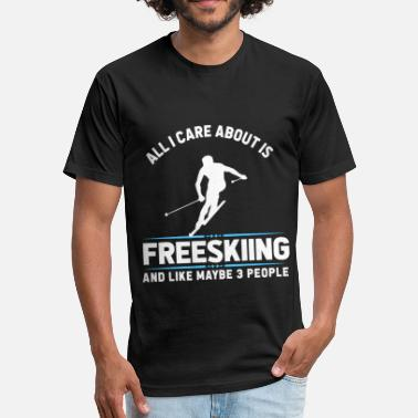 Freeskiing Freeskiing Shirt - Fitted Cotton/Poly T-Shirt by Next Level