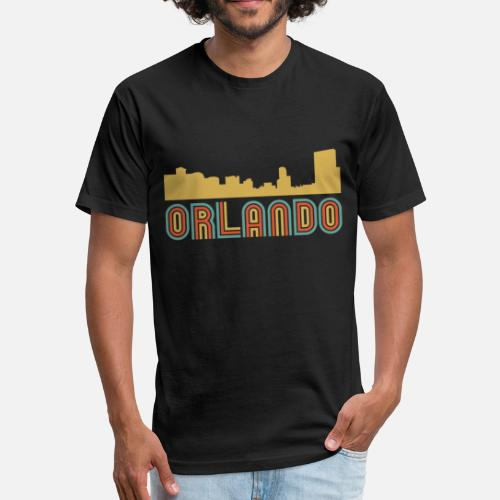 6adb28576fc Unisex Poly Cotton T-ShirtVintage Style Orlando Florida Skyline
