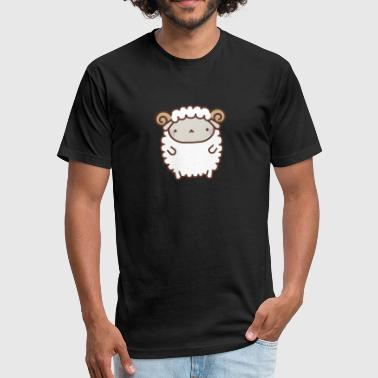 Cute Sheep - Fitted Cotton/Poly T-Shirt by Next Level