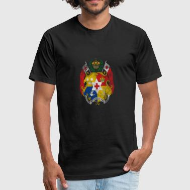 Tonga Tongan Coat of Arms Tonga Symbol - Fitted Cotton/Poly T-Shirt by Next Level