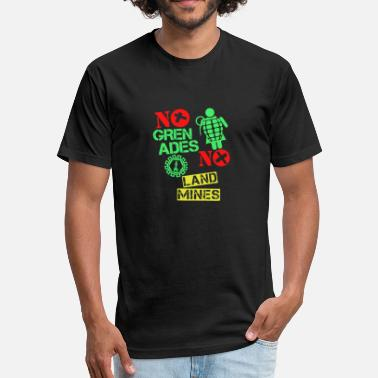 Grens No Gren Ades No Land Mines Trending - Fitted Cotton/Poly T-Shirt by Next Level