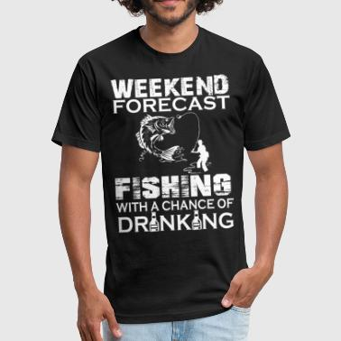 WEEKEND FORECAST FISHING - Fitted Cotton/Poly T-Shirt by Next Level