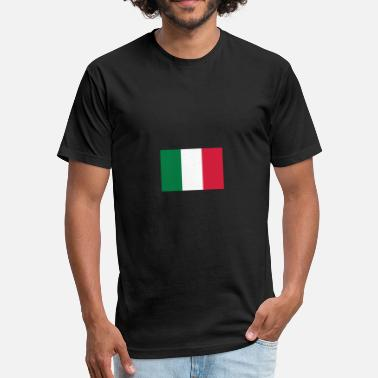 Italy Flag Cities National Flag Of Italy - Fitted Cotton/Poly T-Shirt by Next Level