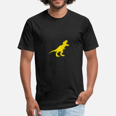 Dinosaurs Symbol Graphic T-Rex Dinosaur Tyrannosaurus Rex Symbol - Fitted Cotton/Poly T-Shirt by Next Level
