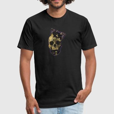 Kings Skull Skull King - Fitted Cotton/Poly T-Shirt by Next Level