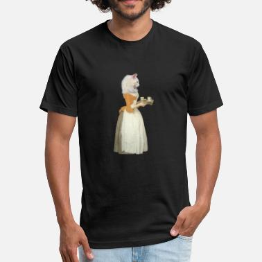 Old Maid Retro Chocolate Cat - Fitted Cotton/Poly T-Shirt by Next Level