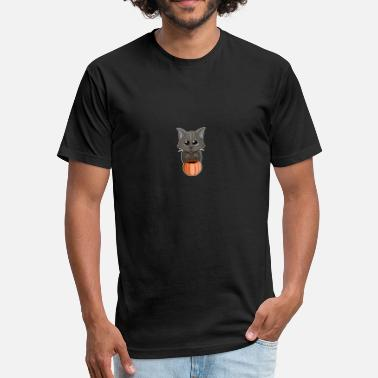 Pussy Tricks Trick or Treat Cat - Fitted Cotton/Poly T-Shirt by Next Level