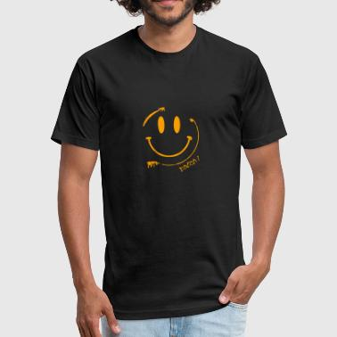 Acid-face Batch1 Smiley Acid Face - Fitted Cotton/Poly T-Shirt by Next Level