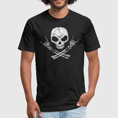 Rock Skull - Fitted Cotton/Poly T-Shirt by Next Level