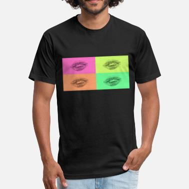 Lipgloss Popart kissable mouth colorful sexy flirt gift - Fitted Cotton/Poly T-Shirt by Next Level