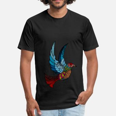 Bird Of Paradise paradise bird - Fitted Cotton/Poly T-Shirt by Next Level
