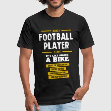 football player - Fitted Cotton/Poly T-Shirt by Next Level