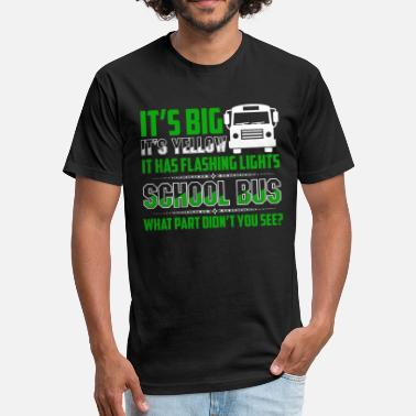 Monitor School Bus Driver Shirt - Unisex Poly Cotton T-Shirt