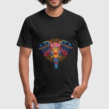 Art - Elephant - Fitted Cotton/Poly T-Shirt by Next Level