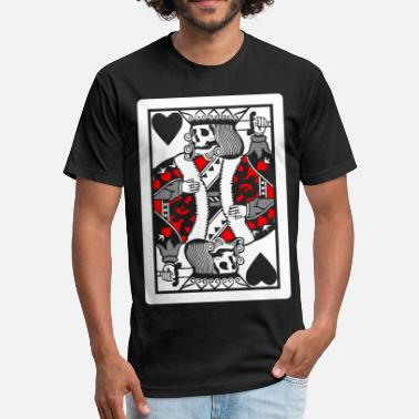 King Dead Dead King - Fitted Cotton/Poly T-Shirt by Next Level