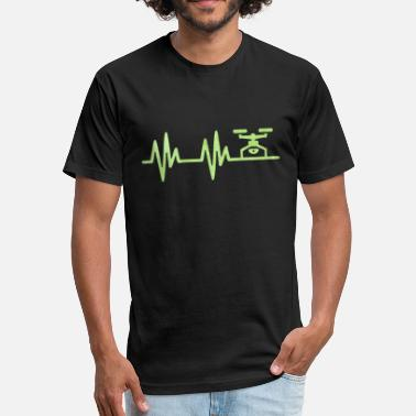 Camaraderie Drone Pulse Gift - Fitted Cotton/Poly T-Shirt by Next Level