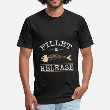 Fillet Fish Eel Fishing Gift Butt Fishing Pike - Fitted Cotton/Poly T-Shirt by Next Level