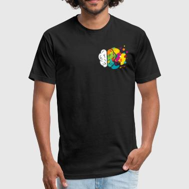 Creative Brain Left Right Tshirt - Fitted Cotton/Poly T-Shirt by Next Level