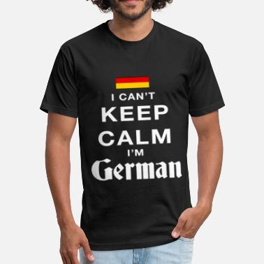 Keep Calm Las Vegas I can't keep calm i'm german - Fitted Cotton/Poly T-Shirt by Next Level