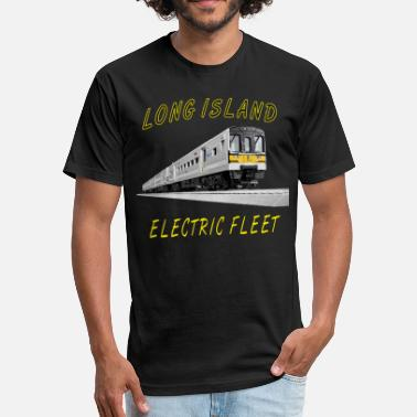 Long Island LIRR_M7 Elec Fleet.png - Fitted Cotton/Poly T-Shirt by Next Level