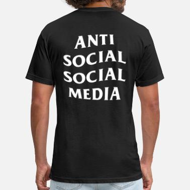 Anti Social Social Club Anti Social Social Club Parody Anti Social Social - Fitted Cotton/Poly T-Shirt by Next Level