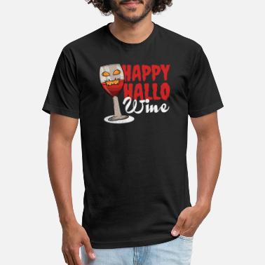 Red Wine Wine red wine Halloween - Unisex Poly Cotton T-Shirt