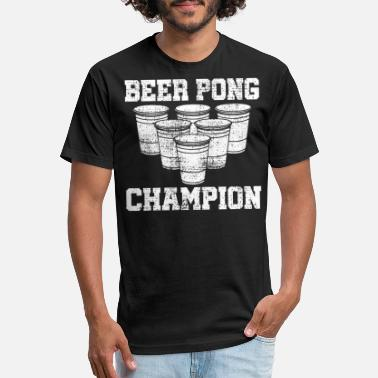 Drinking Game BEER PONG drinking game - Unisex Poly Cotton T-Shirt