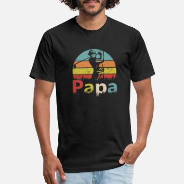 Papa Golfer Retro Vintage T shirt - Unisex Poly Cotton T-Shirt