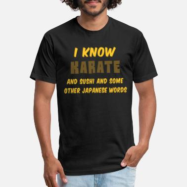 Gokarate Funny Karate Quote I Know Karate heart - Unisex Poly Cotton T-Shirt