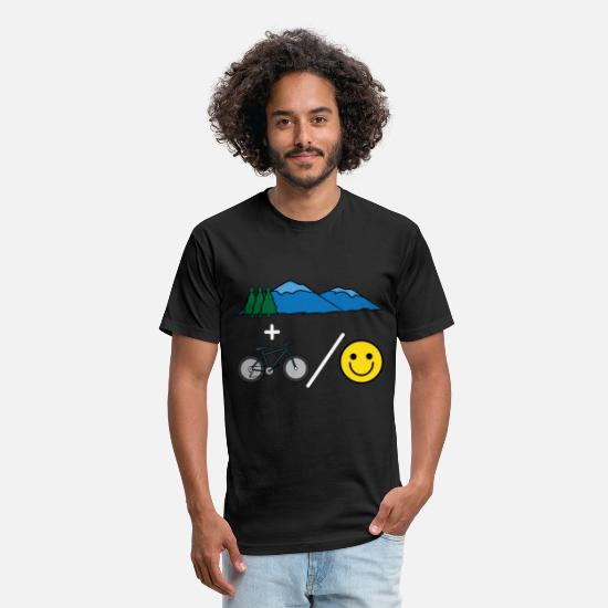 "Forest T-Shirts - Big fan of ""Mountain Bike""? Grab this awesome tee - Unisex Poly Cotton T-Shirt black"
