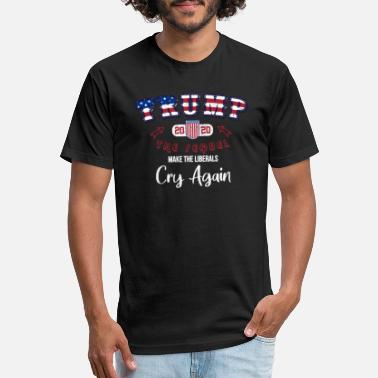 Stars And Stripes Trump Sequel 2020 Make Libarals cry again - Unisex Poly Cotton T-Shirt