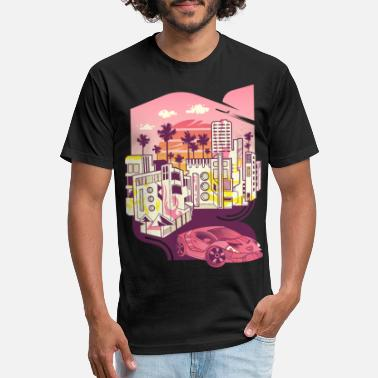 Miami - Fitted Cotton/Poly T-Shirt by Next Level