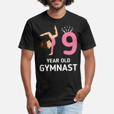 For Kids 9 Year Old Girls Gymnastics Birthday Shirt Years