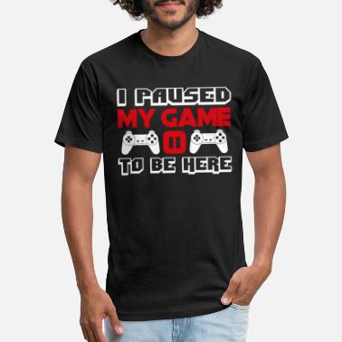 3xl Graphic I Paused My Game to Be Here T Shirt RED - Unisex Poly Cotton T-Shirt